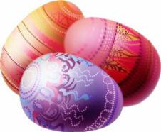 le uova pasquali decorate